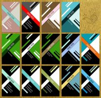 Business Card Color Variation by InterGrapher
