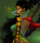 Olette the Amazon close-up by Xionarts