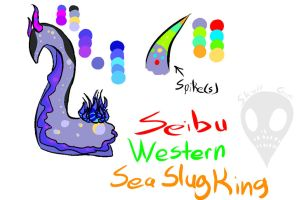 Western Sea Slug King by Skull-gum