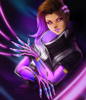 [FANART] Boop! It's Sombra! by SirensReverie