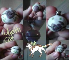 Wyethcat Inspired Pokeball Charm by TheImpossibleBoy