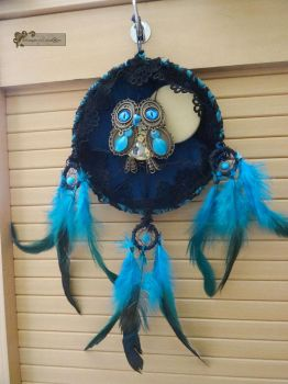 Owl steampunk dreamcatcher by Rouages-et-Creations
