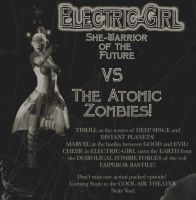 Electric Girl Poster by Goldenthrush