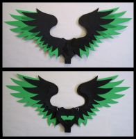 Medium Feathered Wings - Green by CraftyWingy