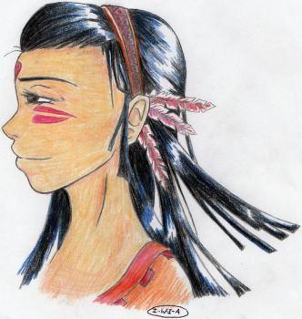Native American lady by I-Walk-In-Air