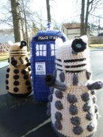 The Daleks Have the Phone Box by bandotaku