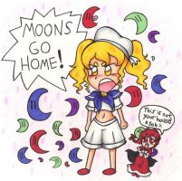 Moons Go Home! by PapillonthePirate
