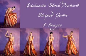 Striped Gown Exclusive1 by DigitalAlchemy-Stock