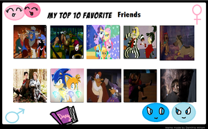 My top fave bestfriends by Soniccouples10