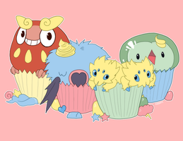pokemon cuppincakes by edface