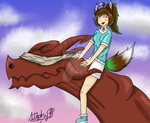 AoH S6: Summer Events - Wyvern riding by DannielleStefPhantom