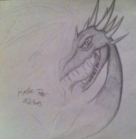 Dragon Head Sketchie by DragonDrawer102