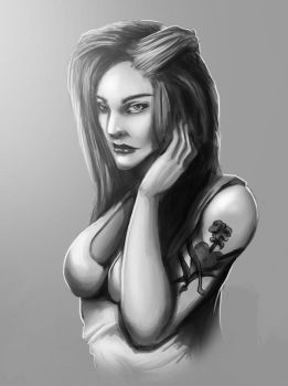Female Stylized Portrait attempt by tyno2