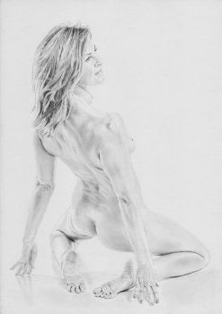 Drawing of 'Bending back', photo by Gb62da by stevie-wydder