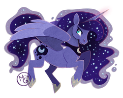 Paper Luna by tea-tiger