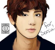 Chanyeol sketch by Tiahemet-Rhaine