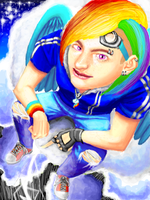 RainbowDash humanized by EclecticNinja