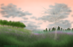 Ghost Tree at Dawn by fluffycawwot