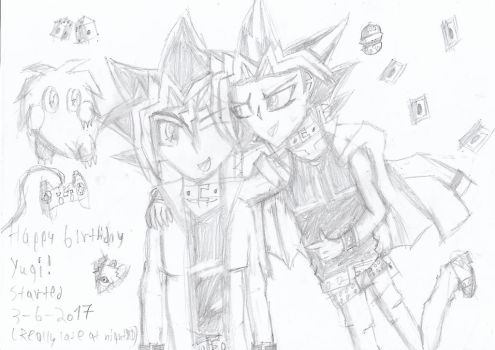 Happy birthday Yugi! by Nefeloma21