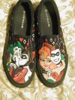 Harley Quinn shoes pt. 2 by LaurenWiles