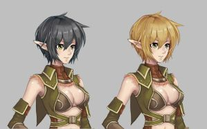 Elf char potrait by VRES