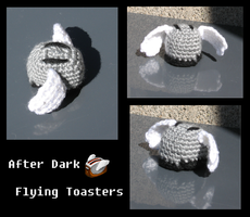 Amigurumi Flying Toaster by zarula