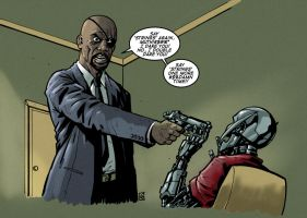 Nick Fury: Pulp Ultron by KR-Whalen