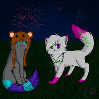 Fireworks +Commish+ by Celia1812