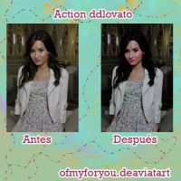new actions ddlovato- by Ofmyforyou
