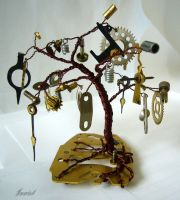 Steampunk tree by Inwiel