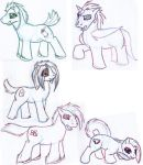 MLP Character sketches by AirRaiser