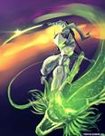 Genji and Shenron by pyropete03