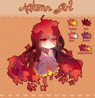 Autumn Girl [ADOPTABLE] (CLOSED) by Hy0uden