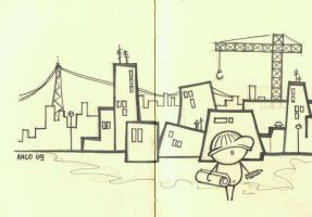the architect-sketch by hannie85