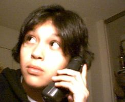 Me on the phone ........ by Negi--kun