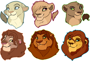 Trade/Sale Lion Busts 2: Closed by oCrystal