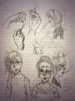 Imdead doddles -lesbians and hand practice tho- by Russane