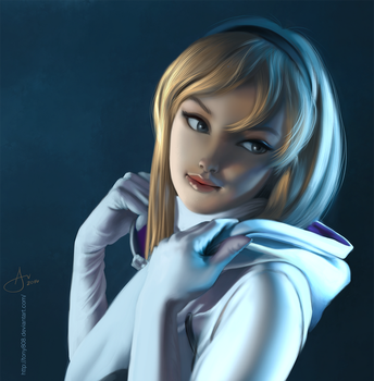 Spider Gwen Cosplay Painting Practice by tony808