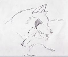 Wolf Love by SpiritWolf517