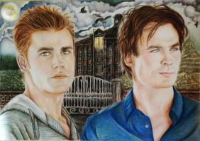 The Salvatore brothers by Alena-Koshkar