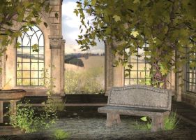 Country Patio Background by Lil-Mz