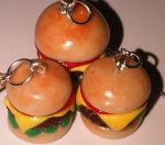 Mini Hamburger charms by cinnamonhaven