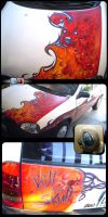 Airbrush on my old Chevy by aladecuervo
