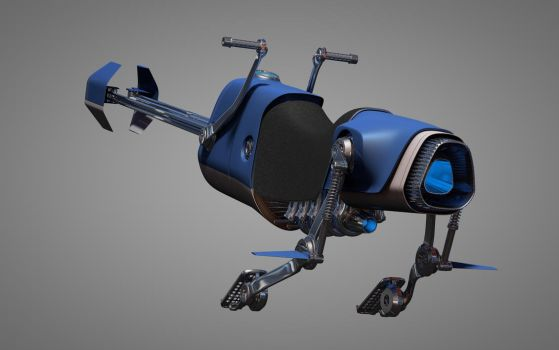 Speeder Bike 1 back by 3RDAXISDesign