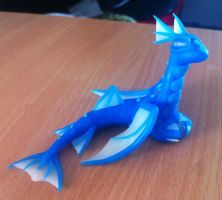 Waterdragon with a pearl by HandmadeDragons