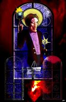 The Doctor:  Stainglass-2 by Dimestime