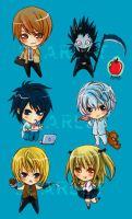 DN chibi set by scarlet-visions
