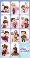 Super Junior chibi set collection by MadziaVelMadzik