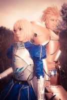 Fate Zero: Saber and Gilgamesh by Ayatenshi