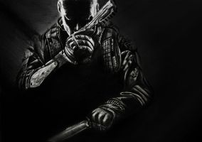 Black Ops 2 drawing. by Helenhsd